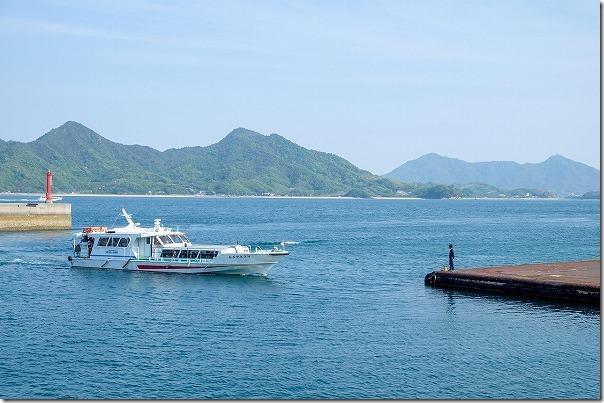 三原・須波港から大久野島への高速船