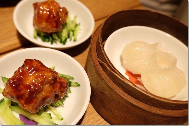 福岡市六本松の豆皿中華Q、Q的酢豚