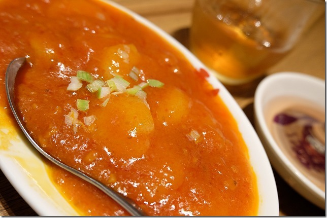 福岡市六本松の豆皿中華Q、エビチリ