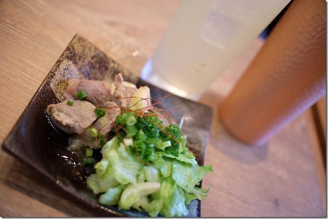 砂肝にんにく漬け,福岡市別府の餃子屋さん