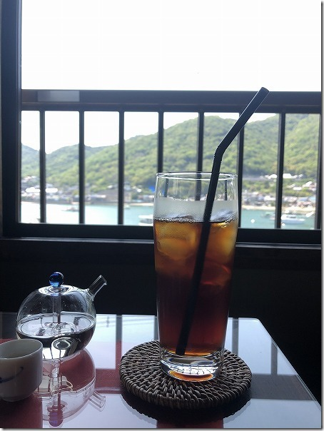 鞆の浦、古民家カフェ 「茶房 船番所」からの眺め
