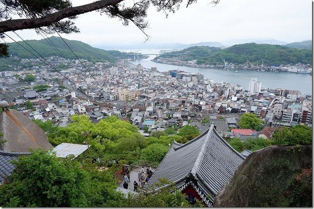千光寺、石鎚山を登りきったとこからの尾道の眺め