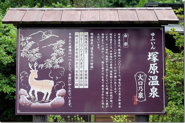 塚原温泉の強酸泉(あせも等に最強)