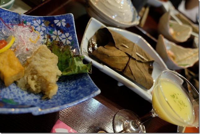 九重悠々亭の食事、夕食