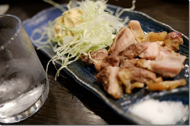 福岡市別府,居酒屋「はなれんこん」でお肉料理