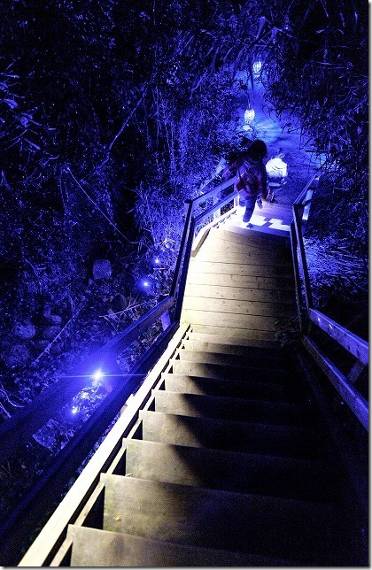 伊王島アイランドルミナ、長い階段