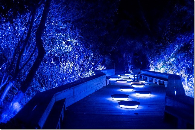 伊王島アイランドルミナ、水の音の道