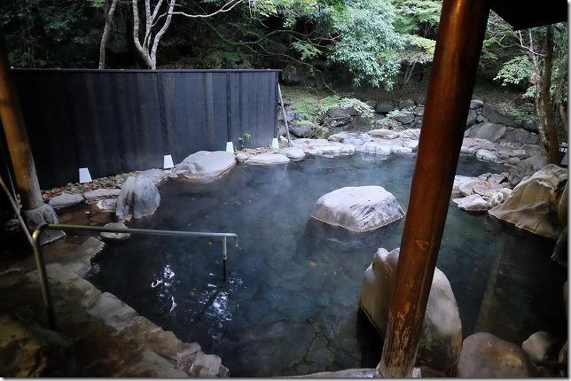小国,お宿,華坊の露天風呂