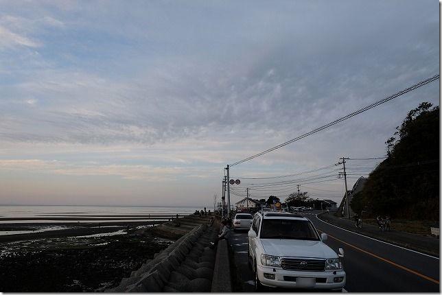 真玉海岸の駐車場