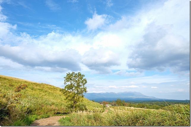 押戸石の丘から九重連山