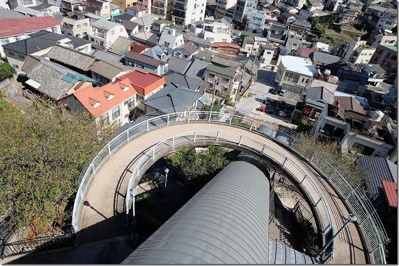グラバースカイロード(エレベータ)から長崎を一望(展望台)