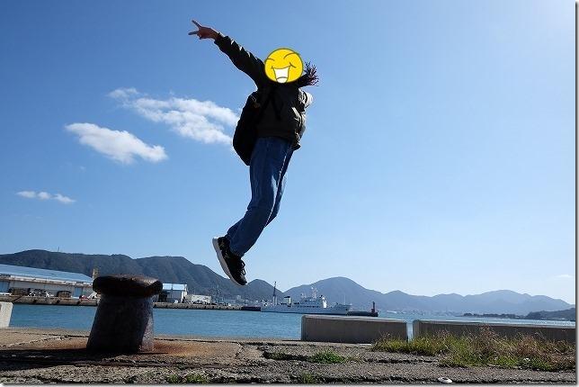 下関駅近くの港