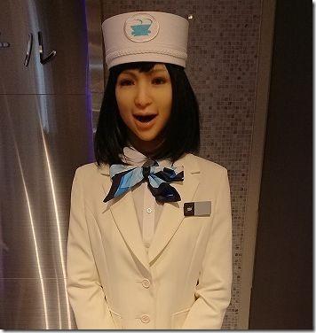 「変なホテル東京 浜松町」の受付ロボット
