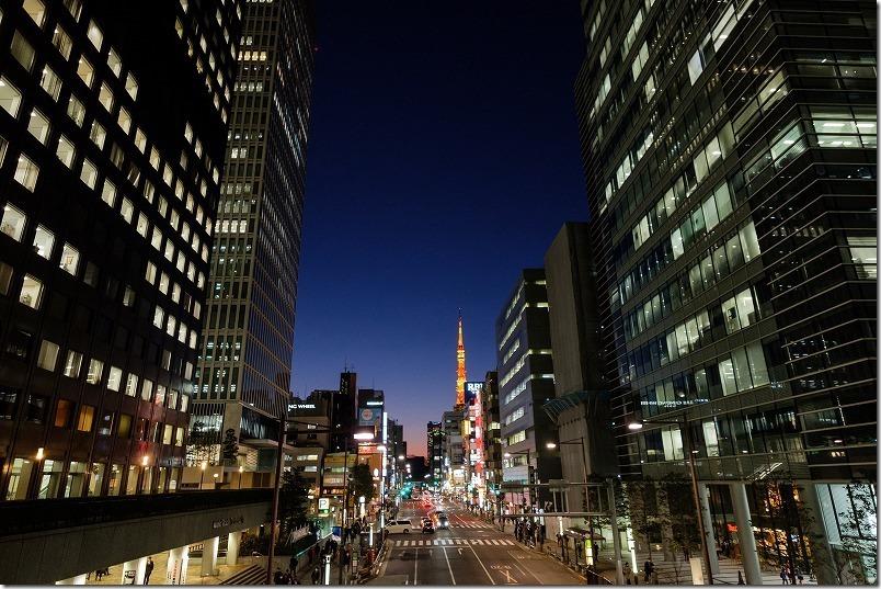 浜松町駅周辺から東京タワー