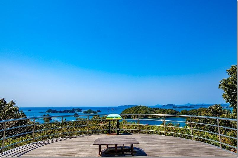 九十九島動植物園「森きらら」近くの船越展望所