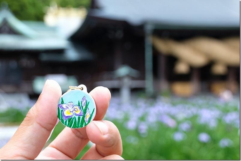 宮地嶽神社の菖蒲の土鈴