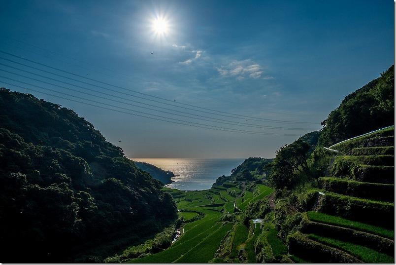 浜野浦の棚田で部分日食を観察(佐賀県玄海町)