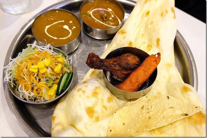 インドレストラン、ゴクルのカレーセット(カレー2種、ナン、タンドリーチキン)
