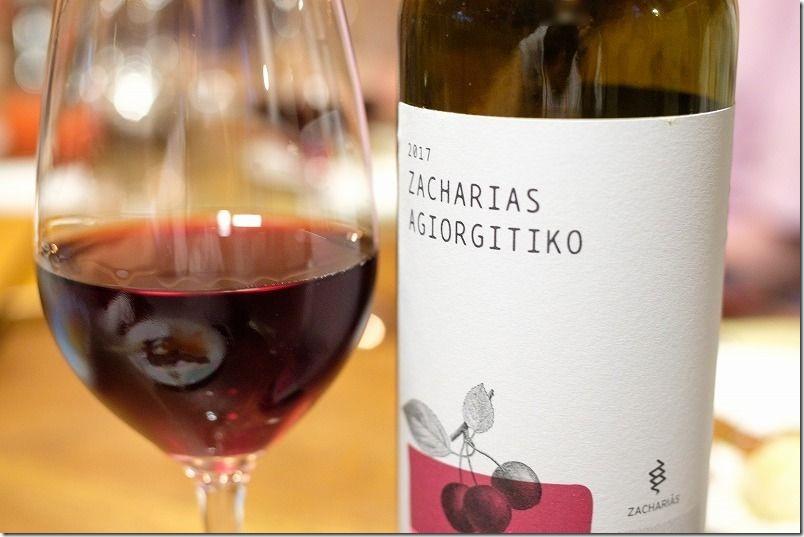 2017、ZACHARIAS、AGIORGITIKOの赤ワイン