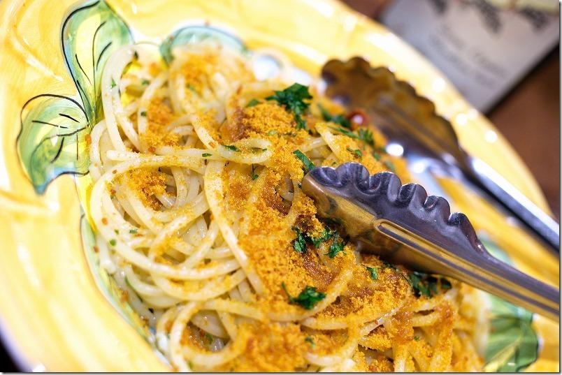 桜坂チリエージョで〆の「からすみのスパゲティ」