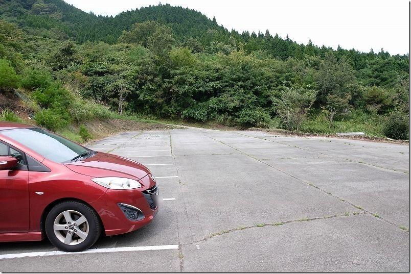 田子山展望台の駐車場へ到着