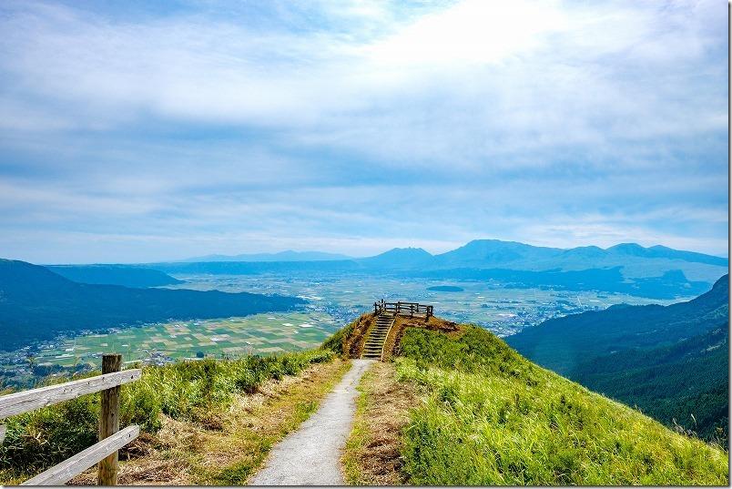 西湯浦園地展望所から阿蘇の絶景、天空の道