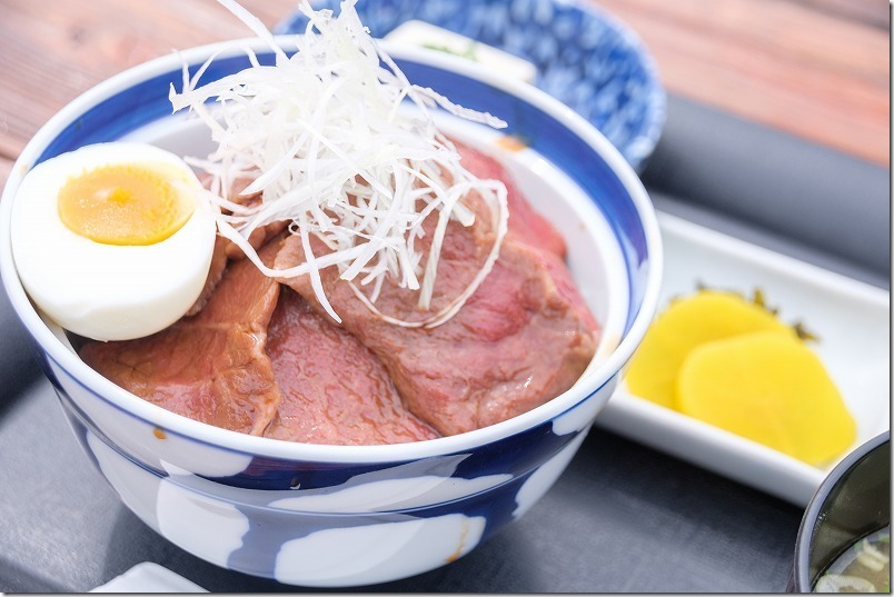 阿蘇レストラン北山の赤牛丼、バイクドン