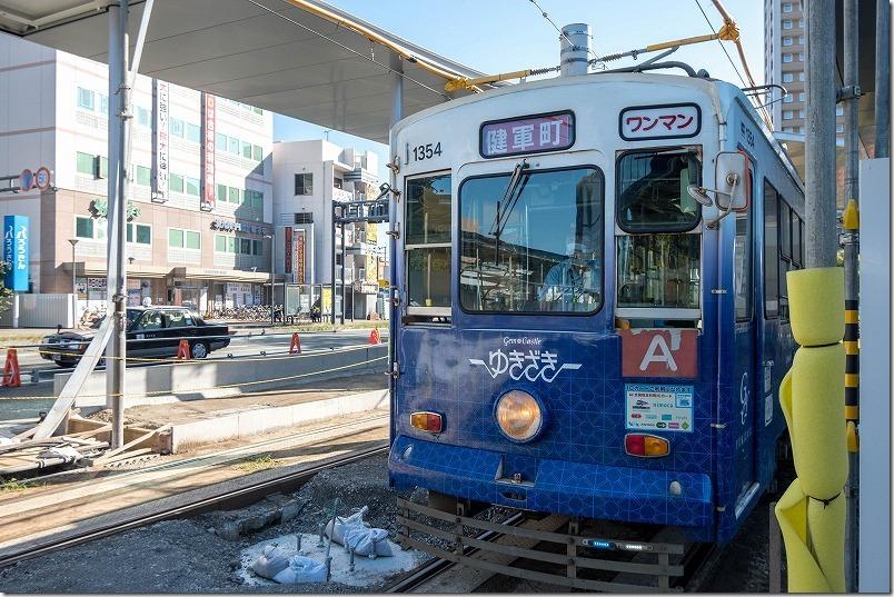熊本で路面電車で観光