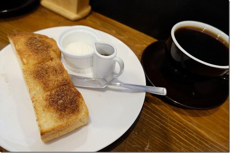 グァテマラコーヒーとシナモントーストのHalf、ALAコーヒー、モーニング