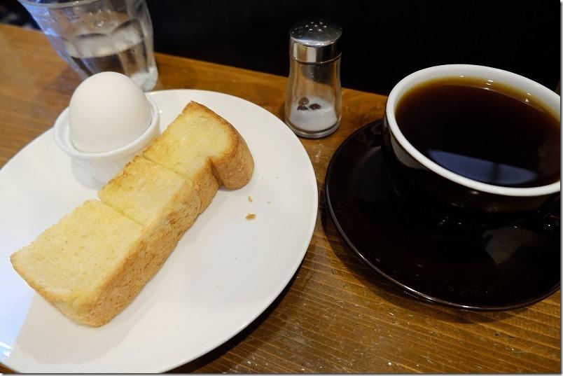 エチオピア・イルガチェフェとトーストHalf+ゆで卵、ALAコーヒー、モーニング