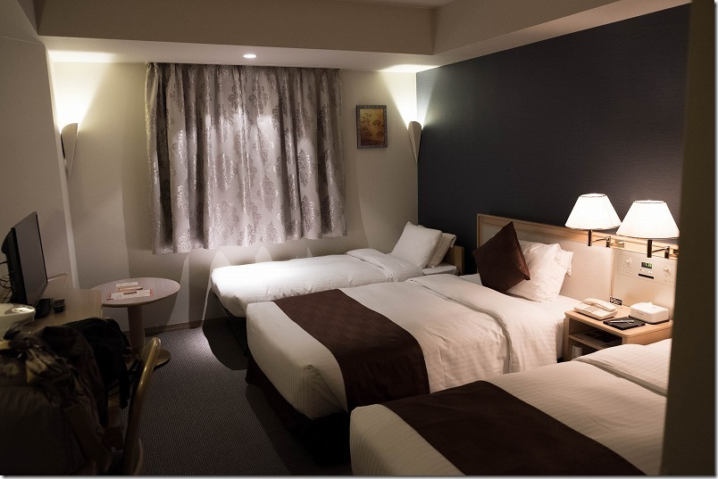 「ザ・ニューホテル熊本」ツインルームで3人利用