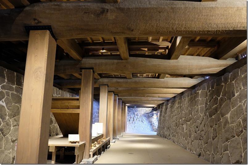 熊本城,復興見学ルート、地下