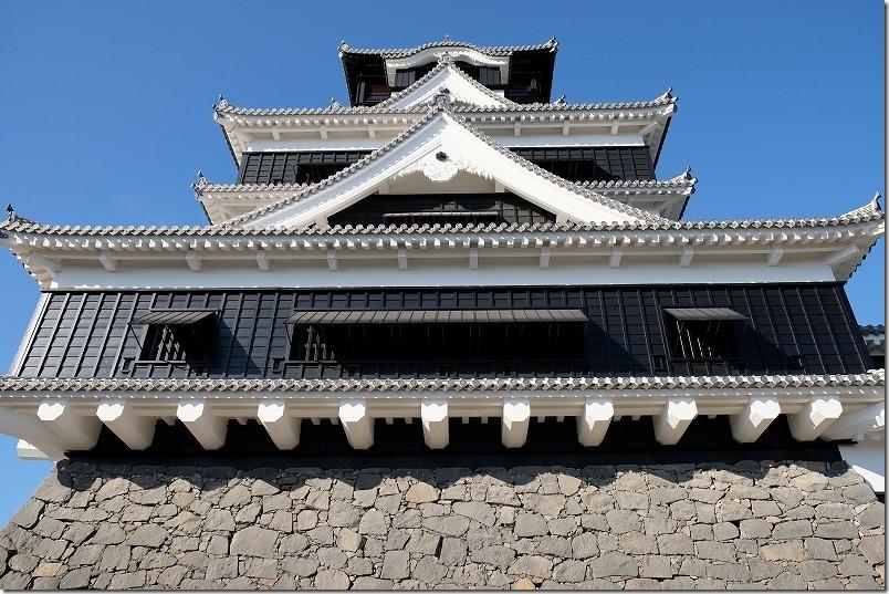 熊本城,復興見学ルート、天守閣