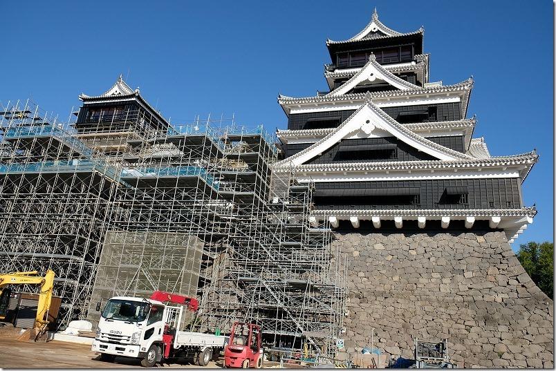熊本城,復興見学ルート、天守閣工事