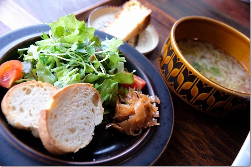 長湯温泉ジプシースマイルカフェでランチセット