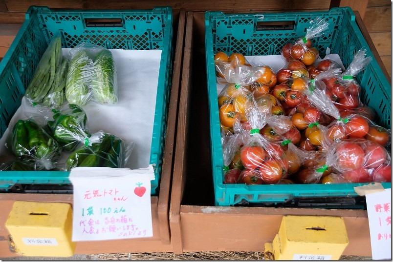 池山水源の野菜の直売所