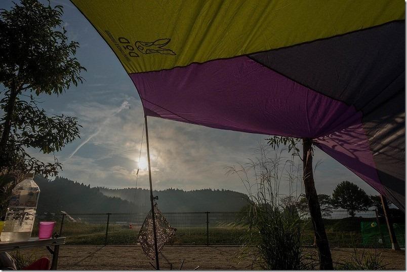 阿蘇・火の国ドッグランのオートキャンプ場の夜更け