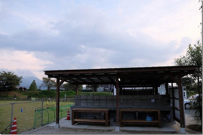 阿蘇・火の国ドッグランのオートキャンプ場の炊事場